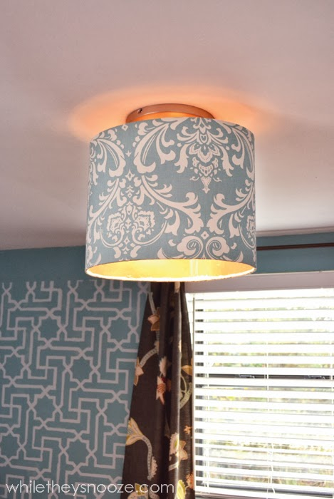 While They Snooze How To Cover An Ugly Light Fixture