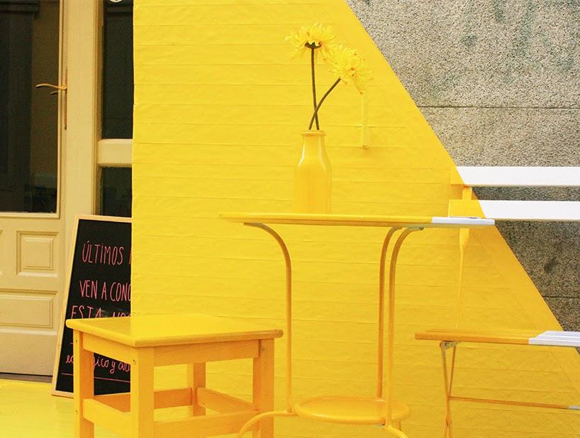 (FOS) pop up store jaune Madrid