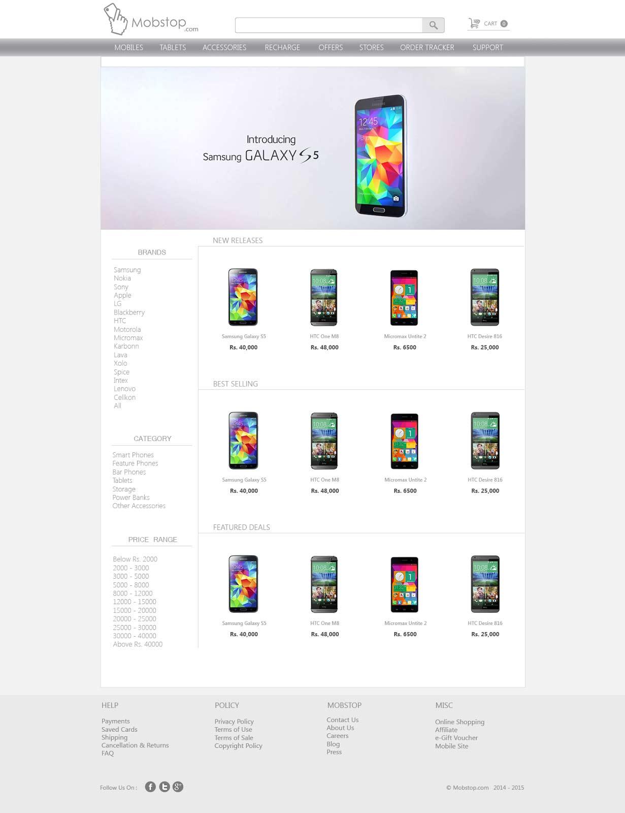 Web Development Design Himadri Bhowmik Mobile Store Template