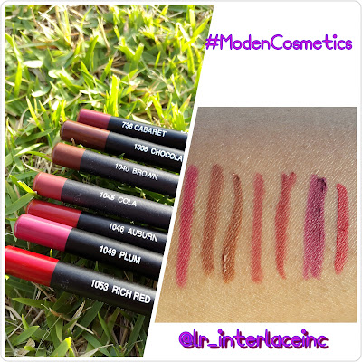 Italia Deluxe Ultra Fine Lip Liners swatches www.modenmakeup.com