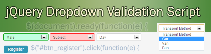 jQuery-list-box-drop-down-validation