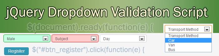 jQuery-list-box-drop-down-validation