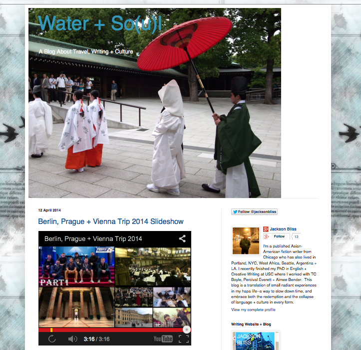 Water + So(u)l:  Travel + Culture Blog