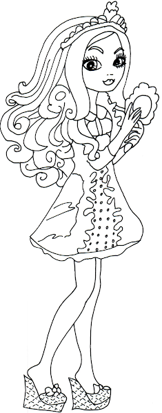 Ever After High Coloring Pages Apple