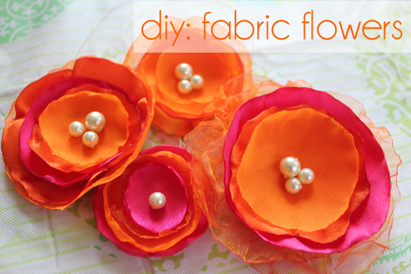 The forge diy fabric flower hair pins for Easy handmade flowers