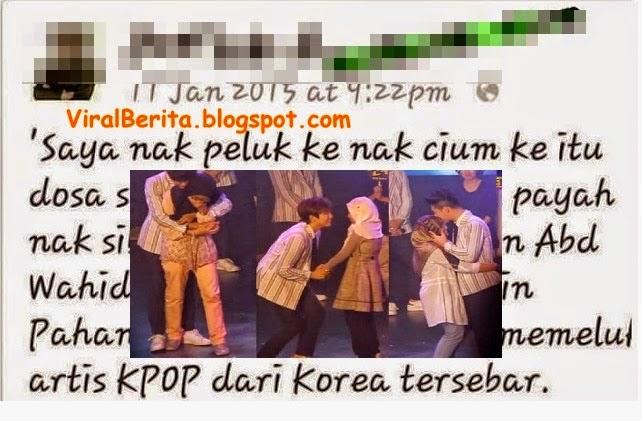 Inilah Luahan Gadis Melayu Bertudung Dipeluk Dan Dicium Artis K pop Yang Amat Mengejutkan