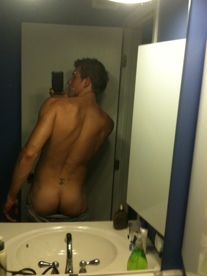 Naked men caught on camera