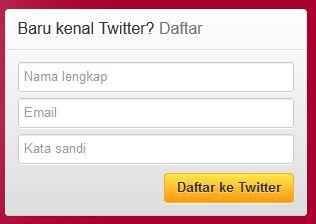 Cara membuat account twitter