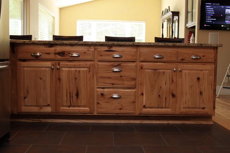 Raised Panel Rustic Hickory U0026 Painted Black Cabinets