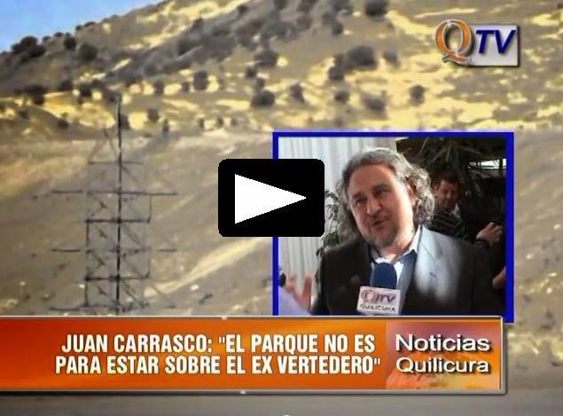 """ALCALDE CARRASCO: """"EL PARQUE NO ES PARA ESTAR SOBRE EL EX VERTEDERO"""""""
