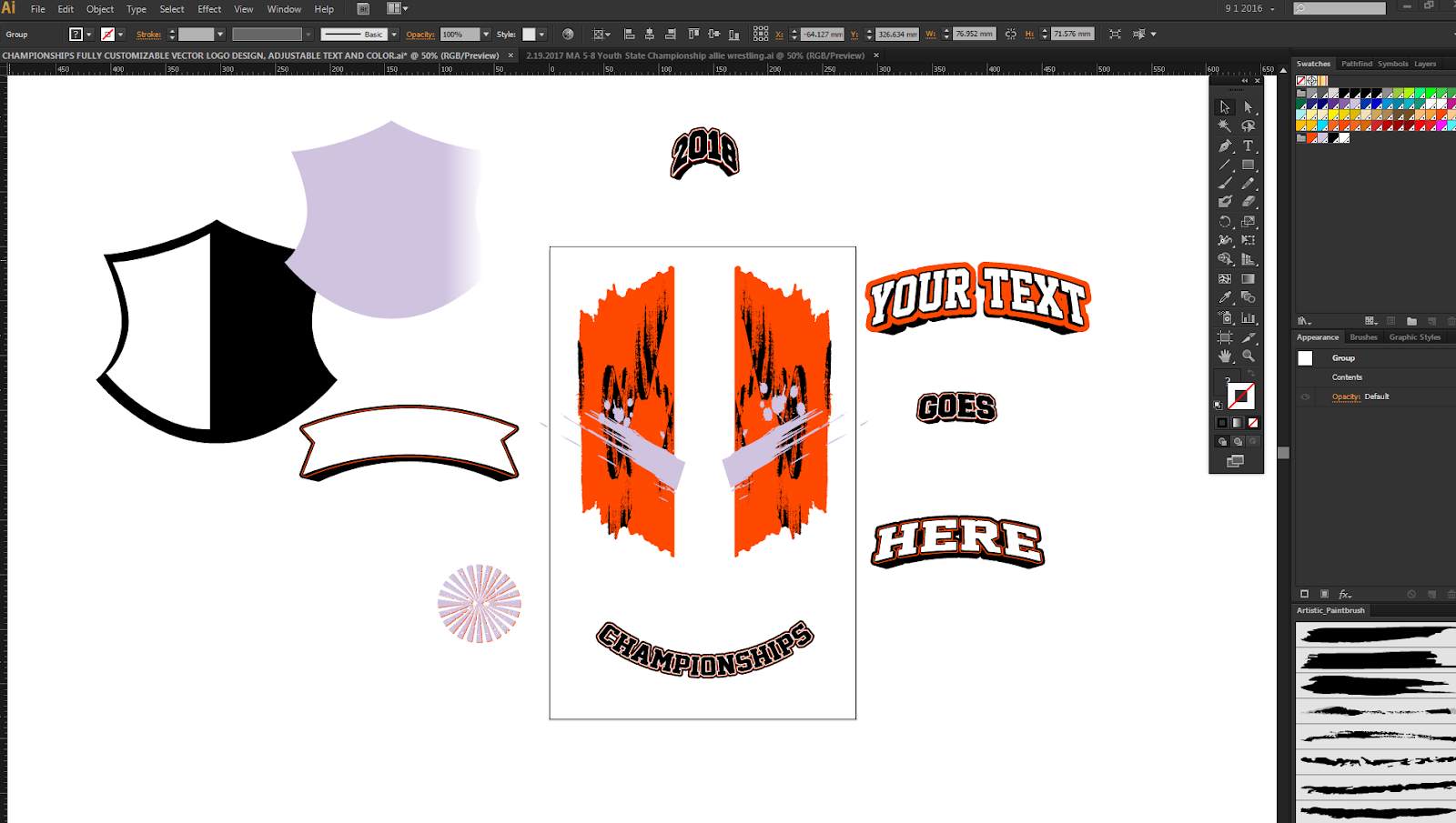 UPDATE LOGO DESIGN APPEARANCE, COLOR, TEXT, FONT AND GRAPHIC ELEMENTS