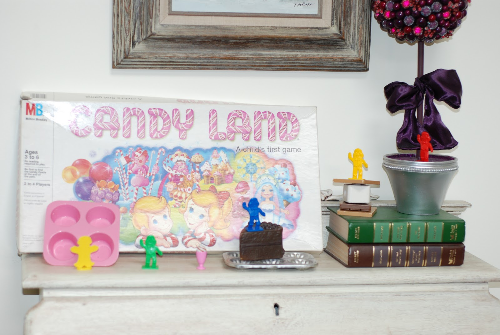 Printable candyland game pieces the candy land game box