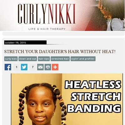 CurlyNikki - Heatless Stretching Natural Hair: Banding