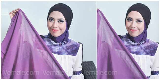 Kreasi Hijab Turban Kepang