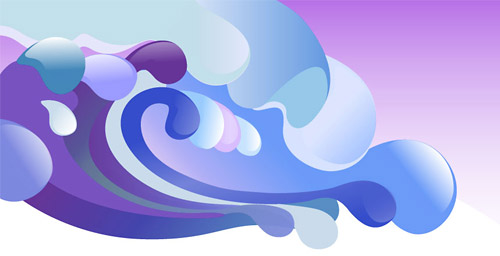 colourful wave illustration