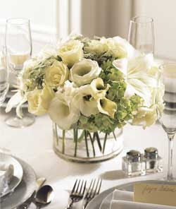 Wedding Preparation: white wedding flower centerpieces