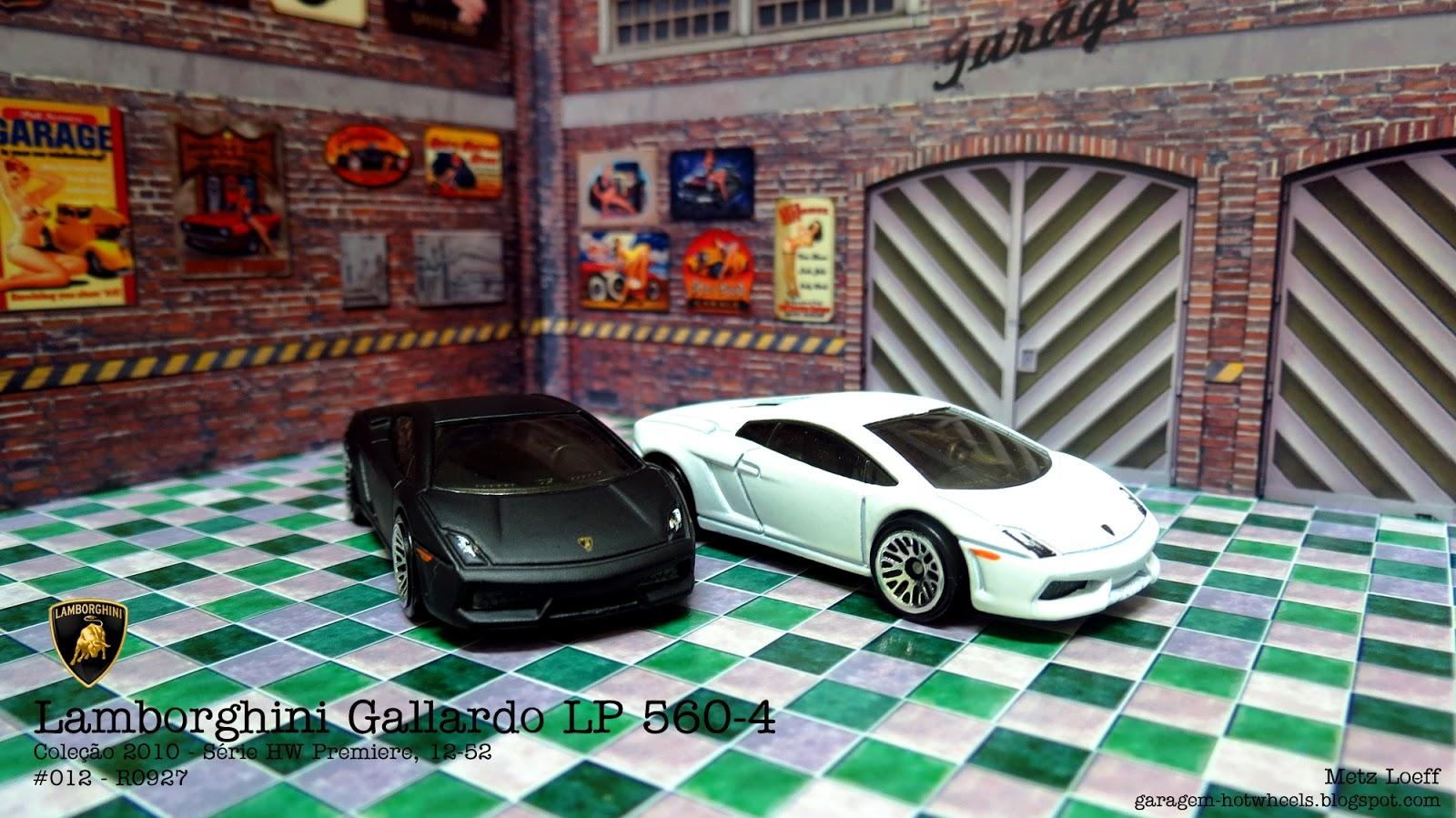 Garagem Hot Wheels Lamborghini Gallardo Lp 560 4