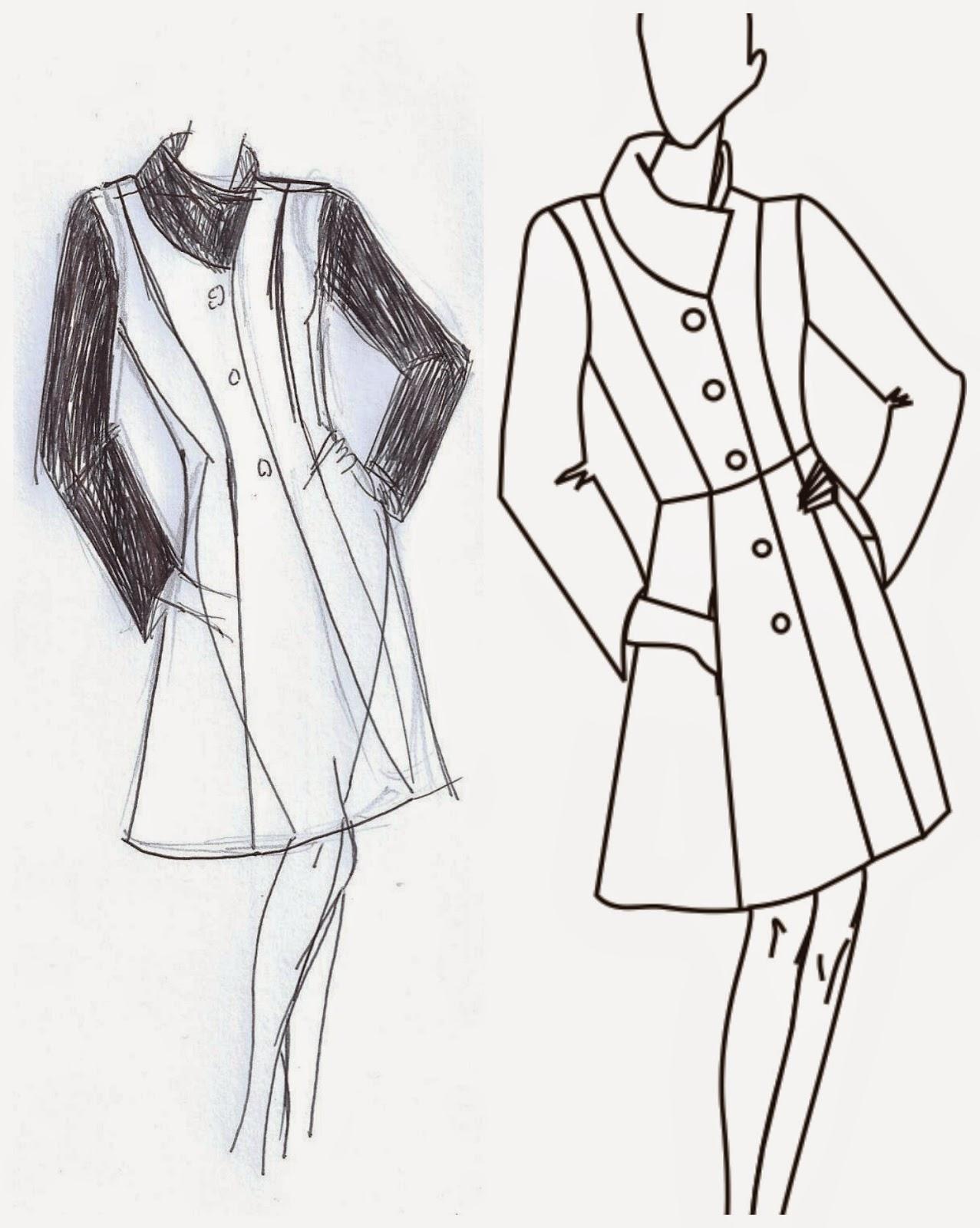 Pensar, dibujar, cortar y coser un abrigo ~ Moda en la Costura