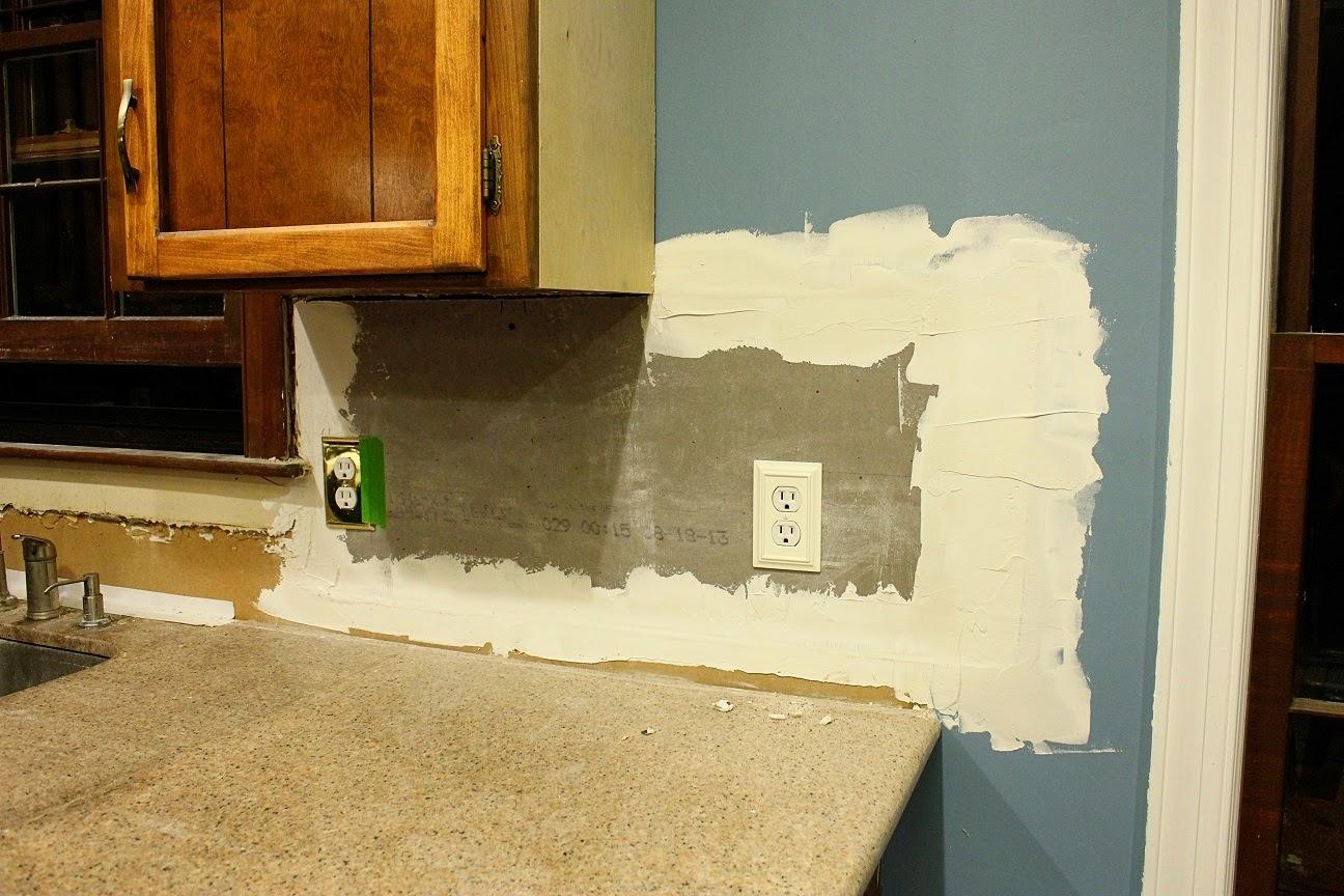 Tile backsplash on drywall