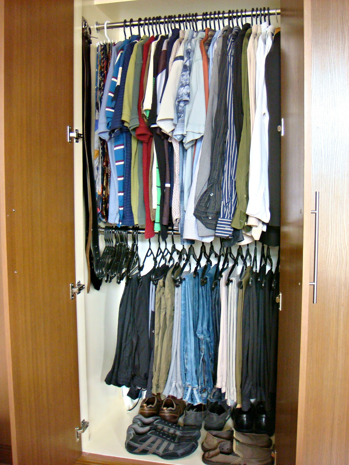 Fresh and organized organizing and maximizing space in a for Maximize small closet