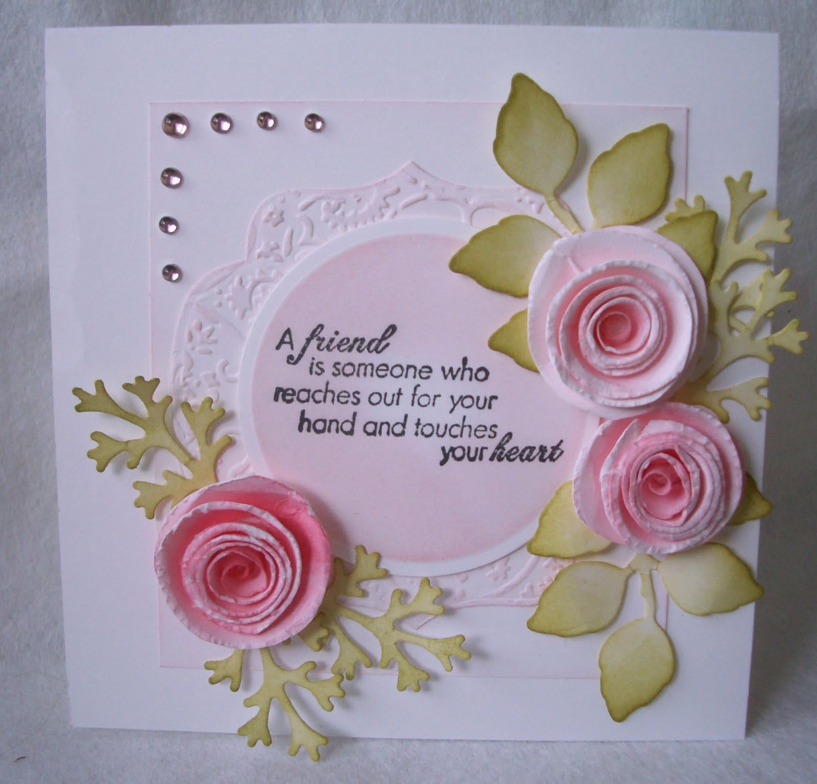 Beautiful Friendship Card Making Ideas Part - 7: A Couple Of Cards To Show You Today, The First One Was Supposed To Be For  The Shabby Tea Room Challenge But For Some Reason, Despite My Using A  Standard Go ...