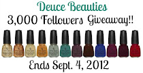 Giveaway: 3,000+ Followers feat. China Glaze On Safari