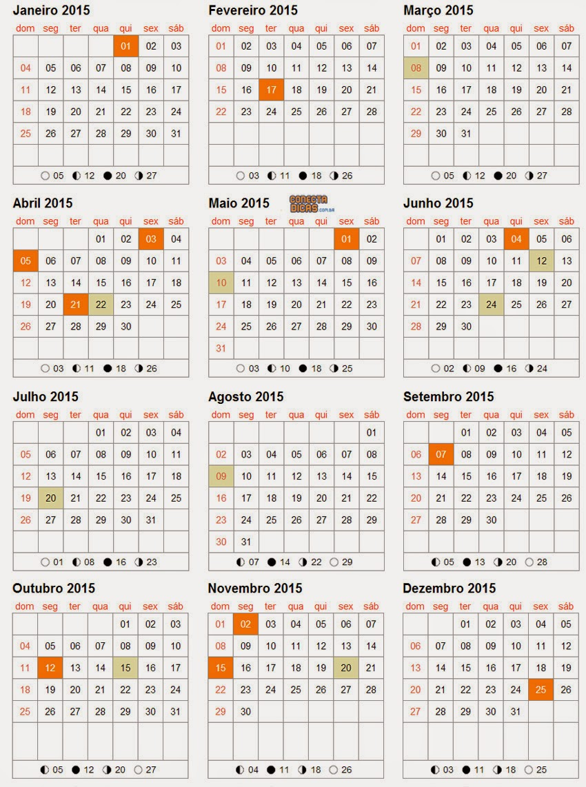 Calendario Feriados 2015 | New Calendar Template Site