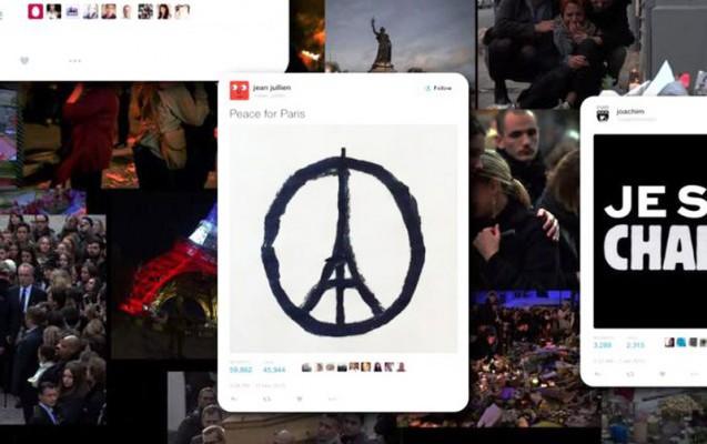 L'année 2015 de Twitter aura été marquée par des discussions autour des attentats terroristes qui ont frappé la France.