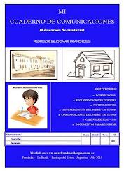 MI CUADERNO DE COMUNICACIONES (Educación Secundaria)