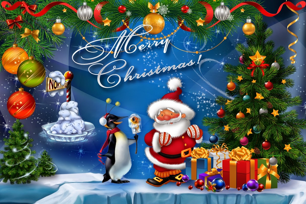 Cute Merry Christmas background Full HD 1080p Wallpapers