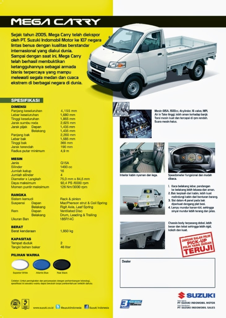 SUZUKI MEGA CARRY BROCHURE