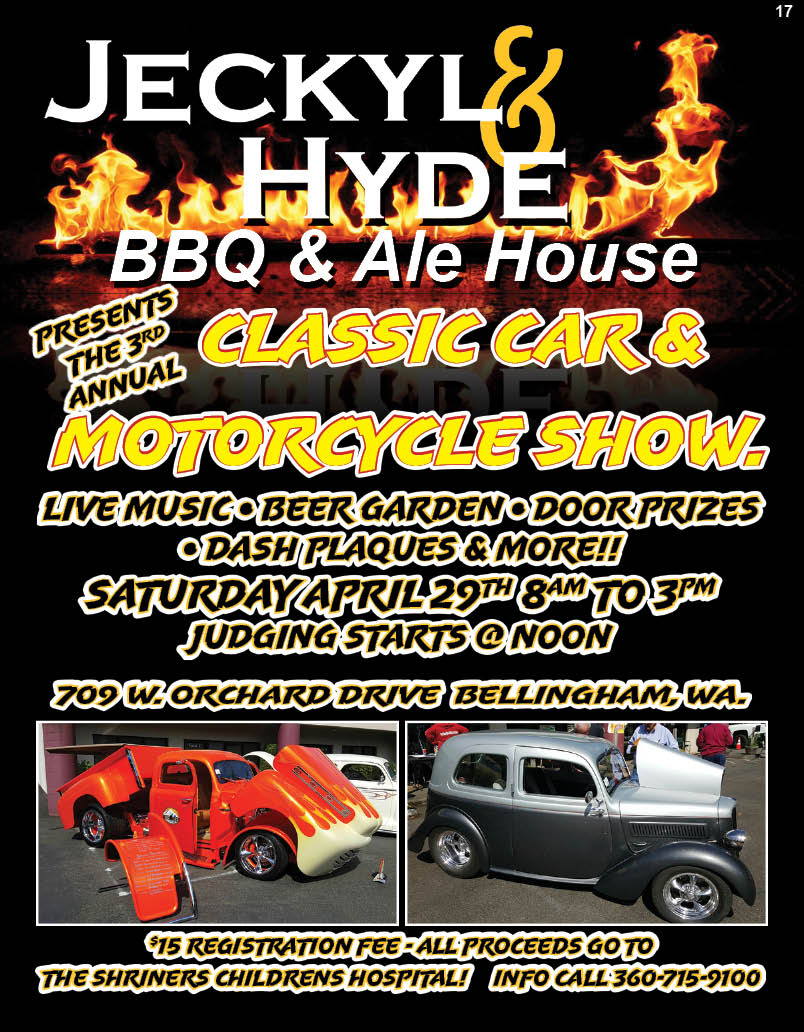Jeckyl & Hyde BBQ & Ale House Presents: The 3rd Annual Classic Car & Motorcycle Show!!