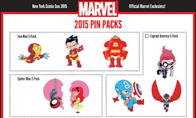 New York Comic Con 2015 Exclusive Skottie Young Marvel Cloisonne Pin Series