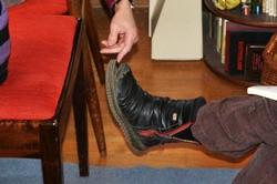 Ein Schuh mit großer Klappe...^^