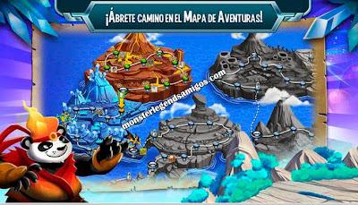 imagen de mapa  de aventuras en monster legends ios