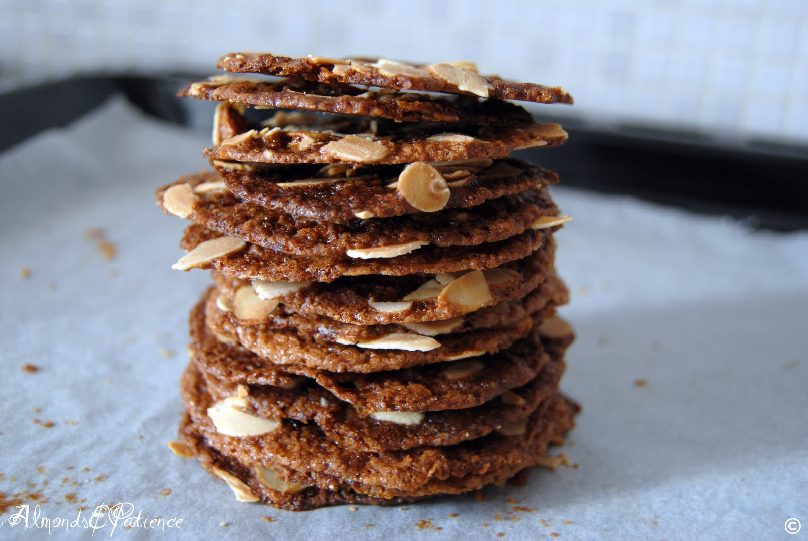 Almonds&Patience: Wafer di mandorle - Almond wafers