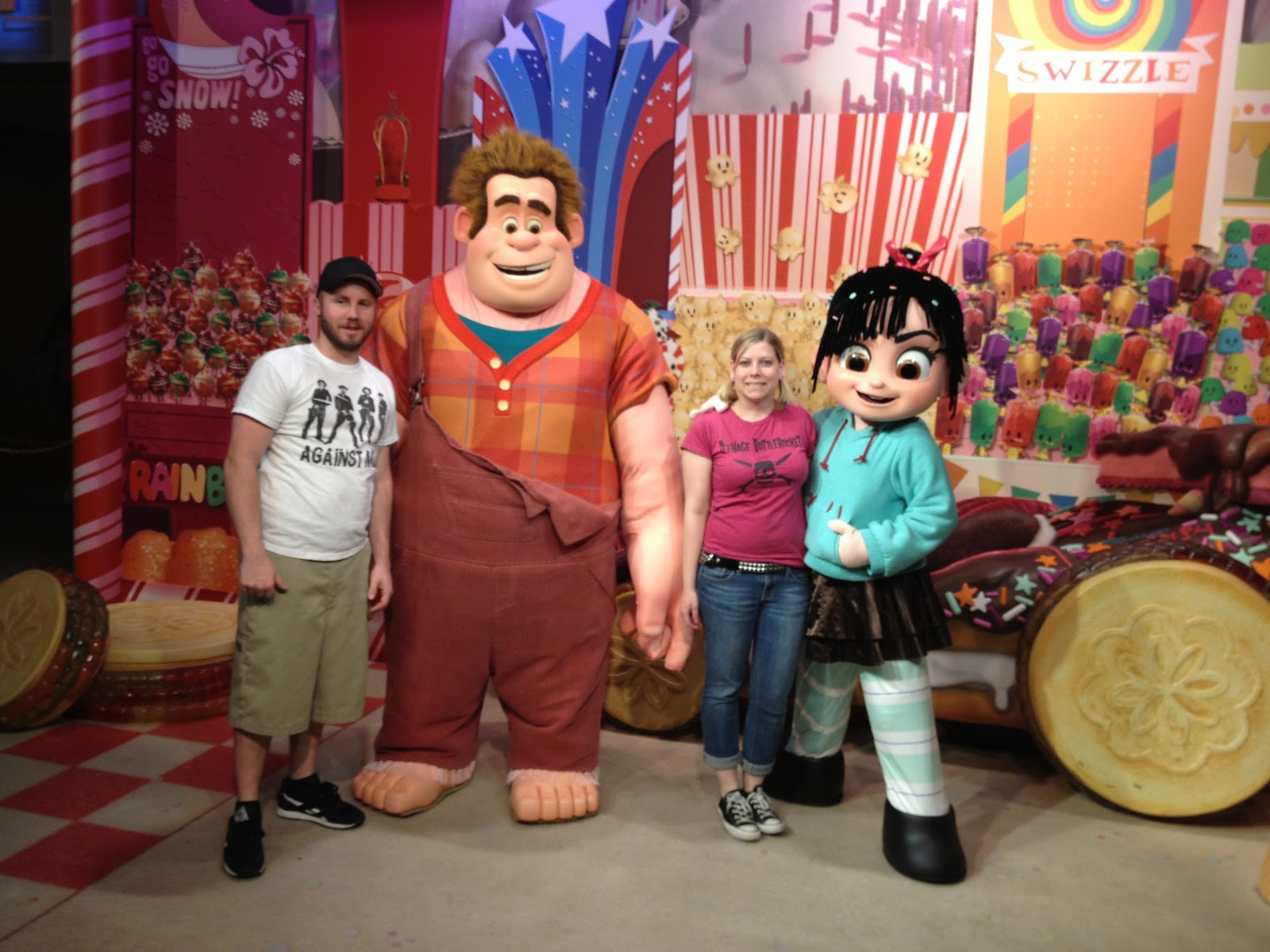 Pixie dust and punk rock after getting some pictures taken with the wreck it ralph gang george finally talked me into riding tower of terror for the first time kristyandbryce Choice Image