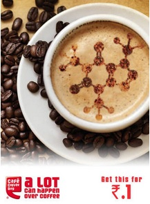 Cafe Coffee Day : Cappuccino at Re.1(Rs.28 Cashback)