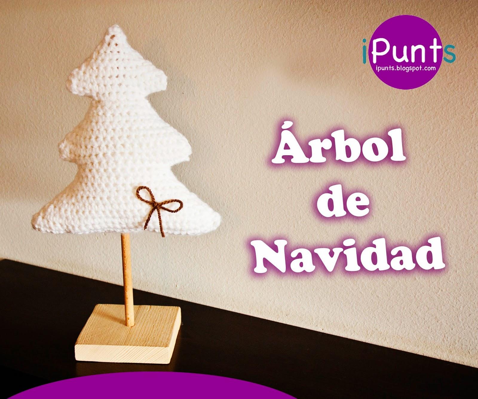 árbol navidad crochet ganchillo ipunts patron gratis fácil paso a paso