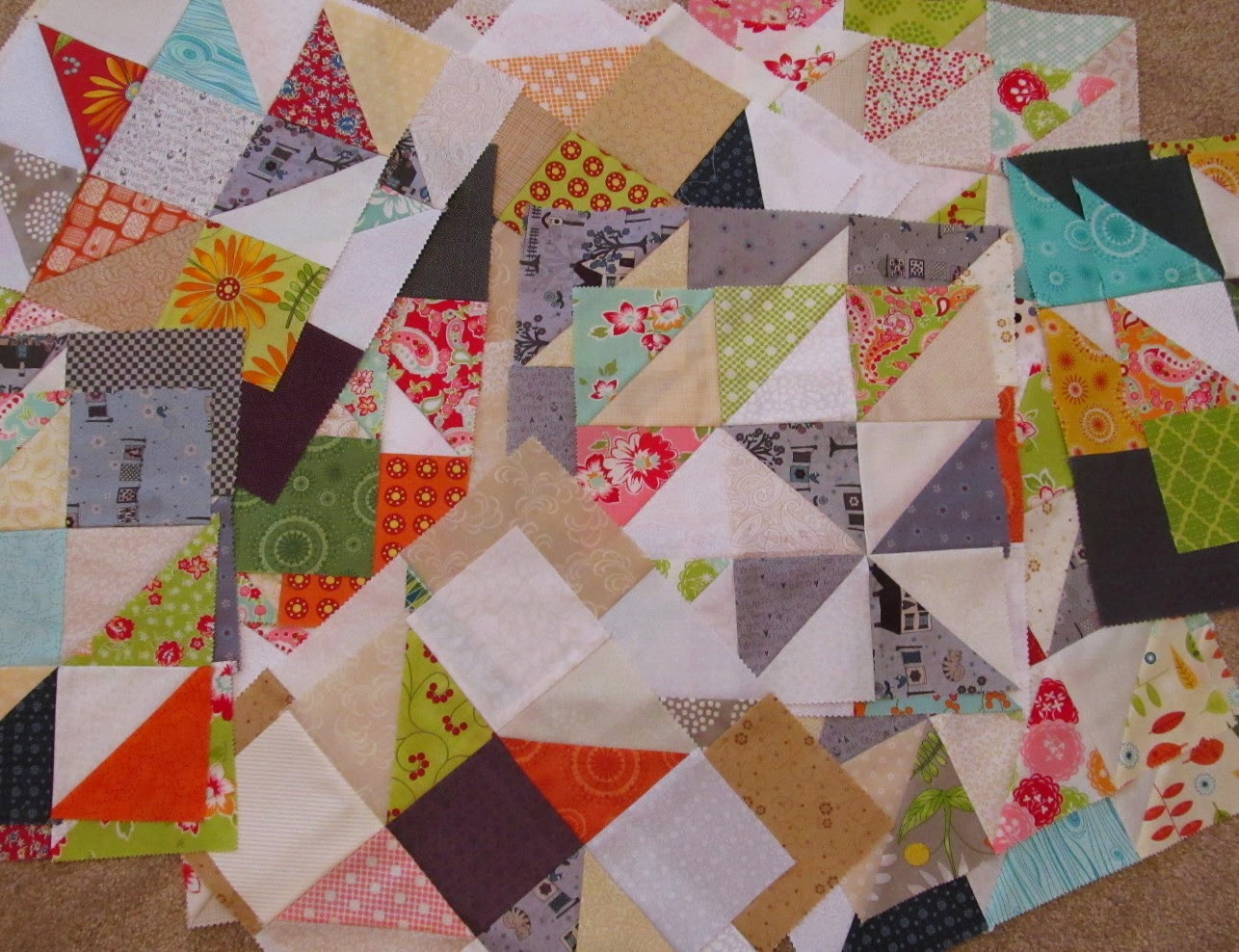 Triangle Quilt Pattern Block How to make a quilt