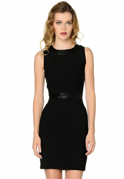 siyah elbise, deri kemerli elbise , kısa elbise, kolsuz elbise, 2015 elbise modelleri, adil ışık elbise