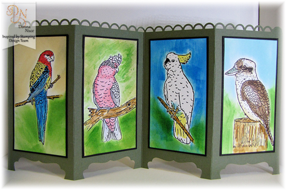 Inspired by Stamping, Crafty Colonel, Australian Birds, 3D Project.