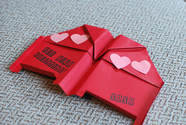 Bat Wing Paper Airplanes + Lollipop Valentines