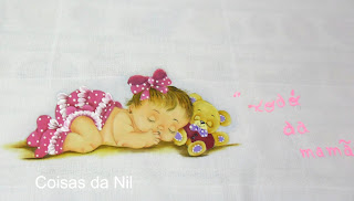 fralda pintada para menina. xodo da mamae