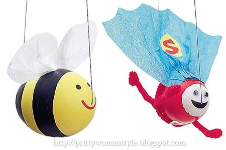 забавни великденски яйца - Батман и пчеличката Мая