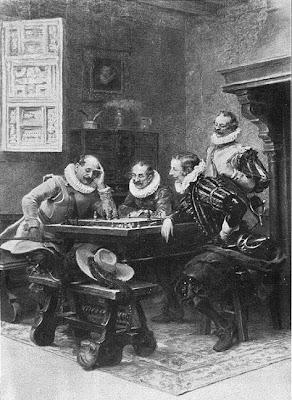 Cuadro de José de Llaneces con el ajedrez como tema de fondo