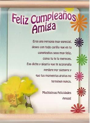 Frases Para Cumpleaños: Feliz Cumpleaños Amiga Eres Una Persona Muy Especial