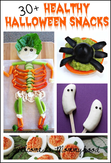 30+ Healthy Halloween Snacks round up by Welcome to Mommyhood #healthysnacks, #healthypreschoolmeals, #healthytoddlermeals, #healthyhalloweensnacks