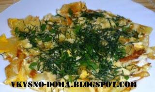 Картофель с яйцами Пустой холодильник