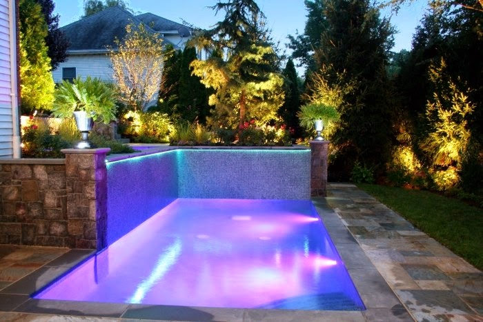 Amazing lighting outdoor pool ideas